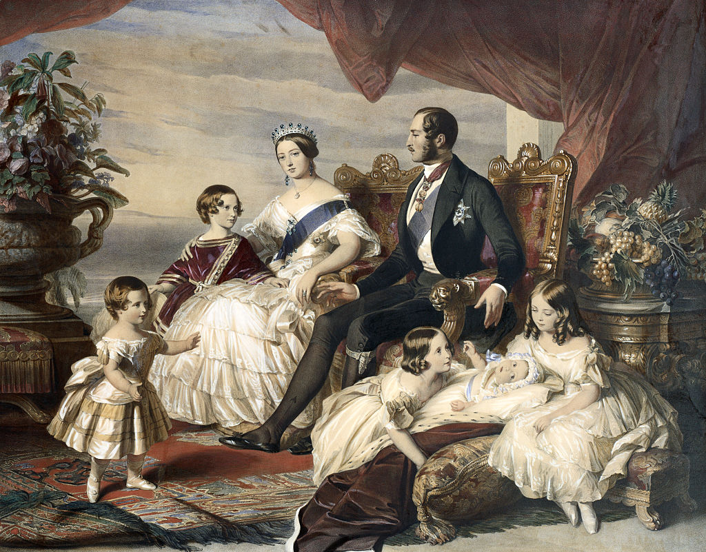 Queen Victoria and Prince Albert with Five of Their Children by Frederick Winterhalter
