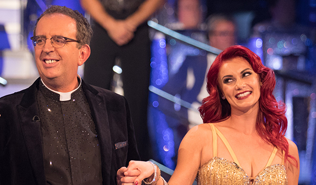 Richard Coles and Dianne Buswell on Strictly Come Dancing