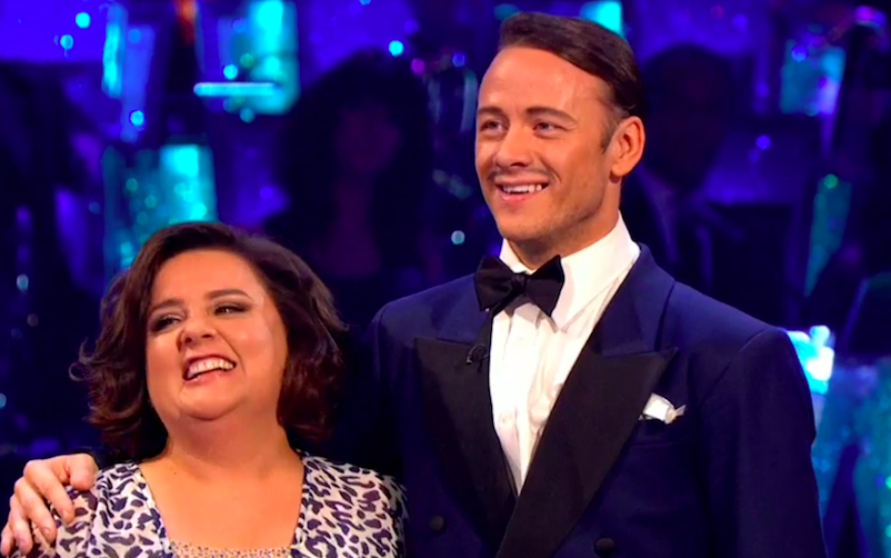 Susan Calman and Kevin Clifton on Strictly Come Dancing week one