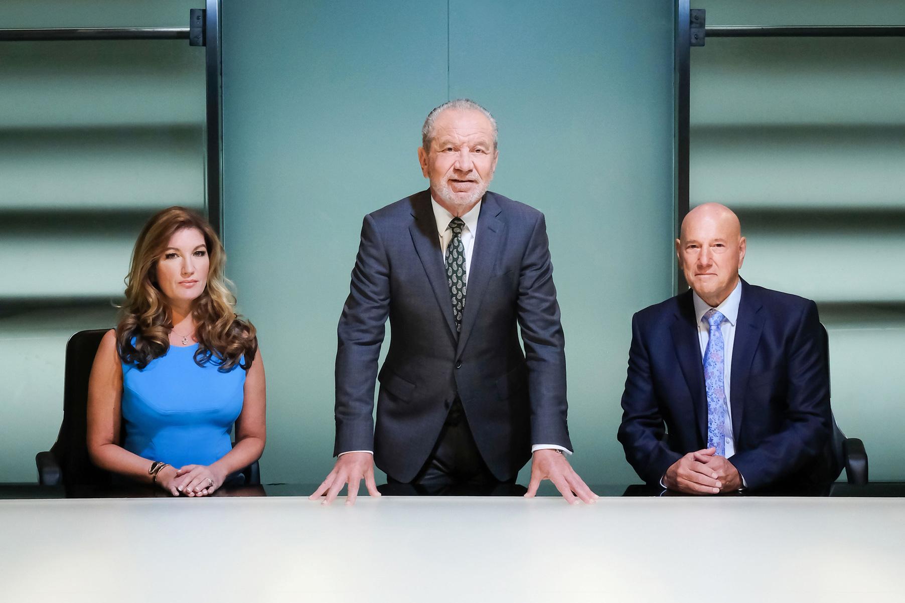 The Apprentice's Lord Sugar, Karren Brady and Claude Littner