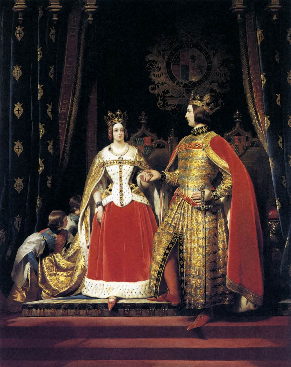 Queen Victoria and Prince Albert at the Bal Costumé of 12 May 1842 by Landseer
