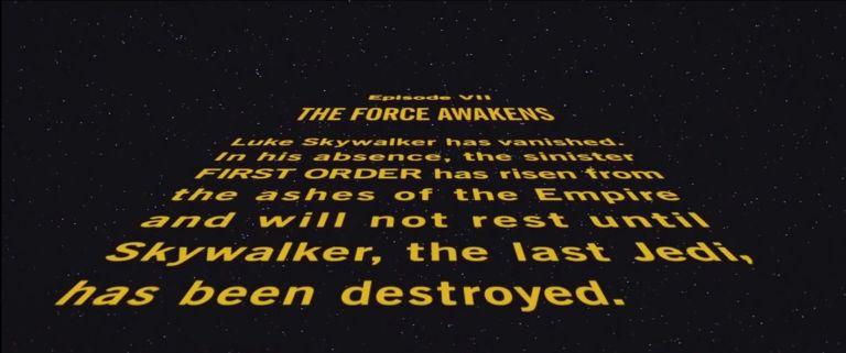 Last Jedi Crawl Star Wars