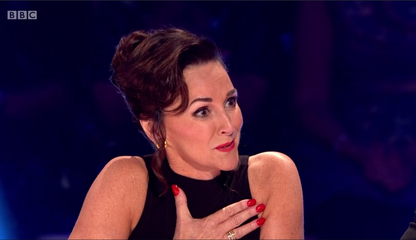 shirley ballas crying