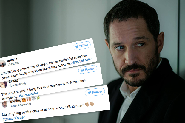 Doctor Foster fans hate Simon