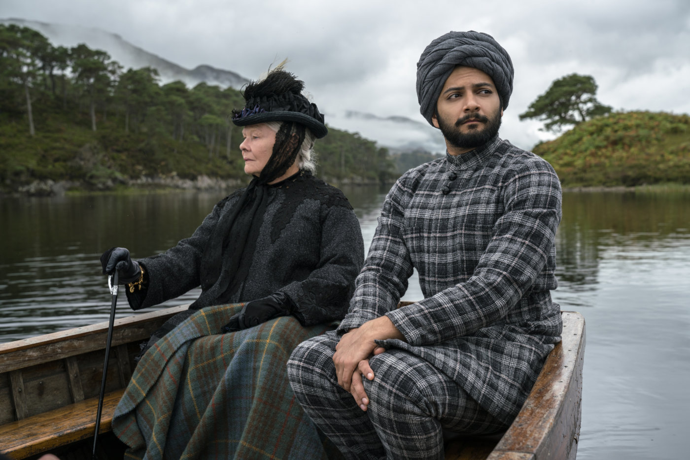 Victoria and Abdul in a boat