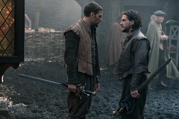 Edward Holcroft and Kit Harington in Gunpowder (BBC, HF)