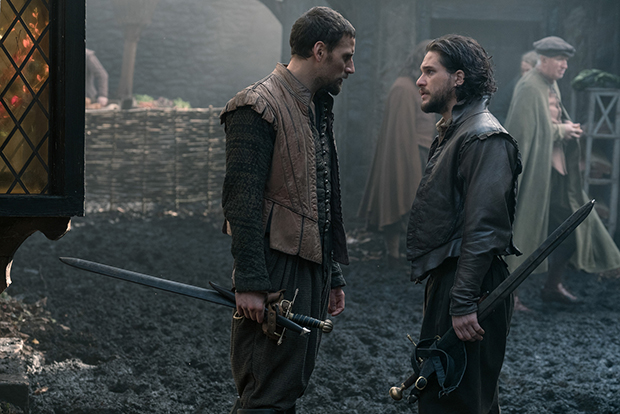 Edward Holcroft and Kit Harington in Gunpowder (BBC, HF)