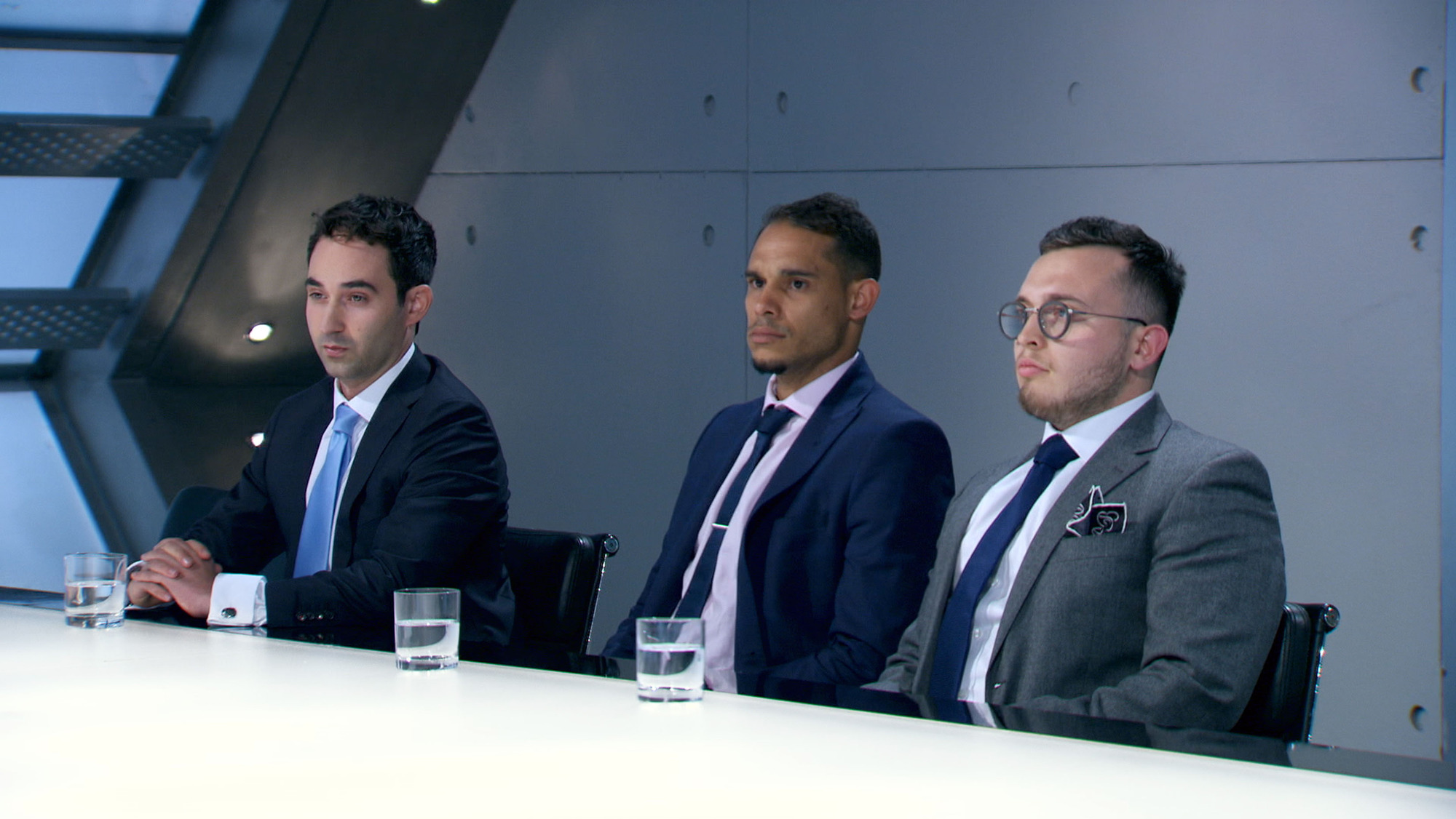 The Apprentice candidates in the boardroom