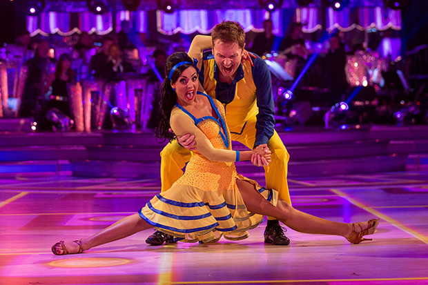 Brian Conley and Amy Dowden strut their stuff in last night's Strictly (BBC, HF)
