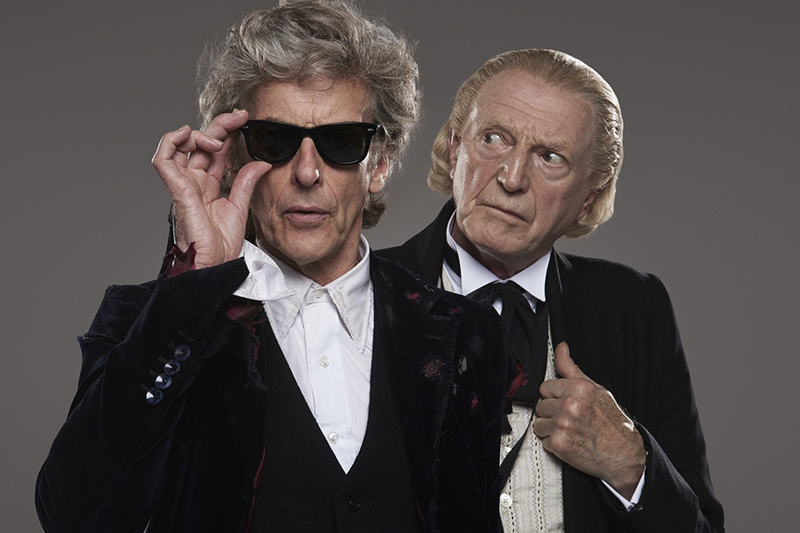 Peter Capaldi and David Bradley in Doctor Who (BBC, HF)