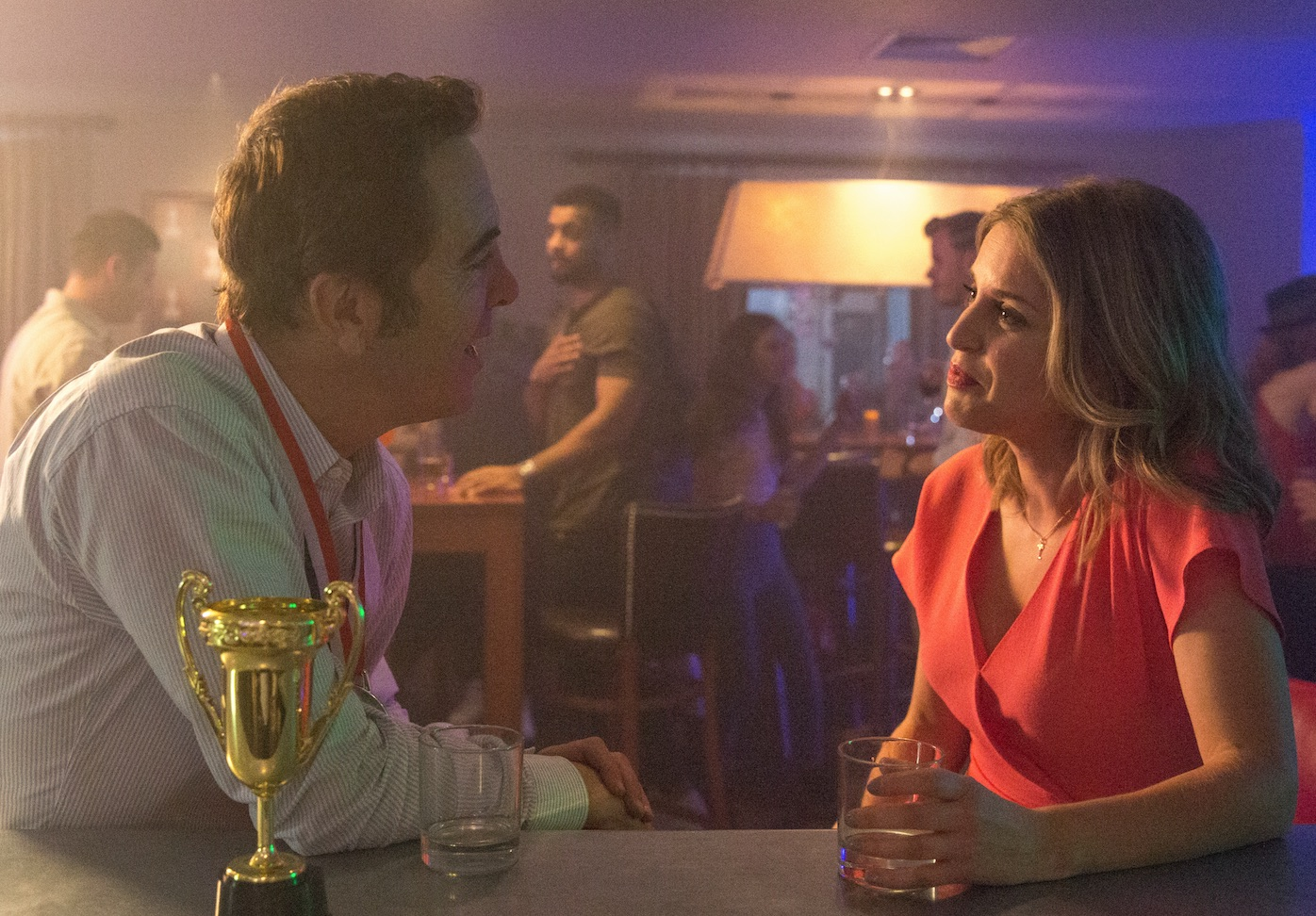 Cold Feet ep 6 Adam and Sarah in bar