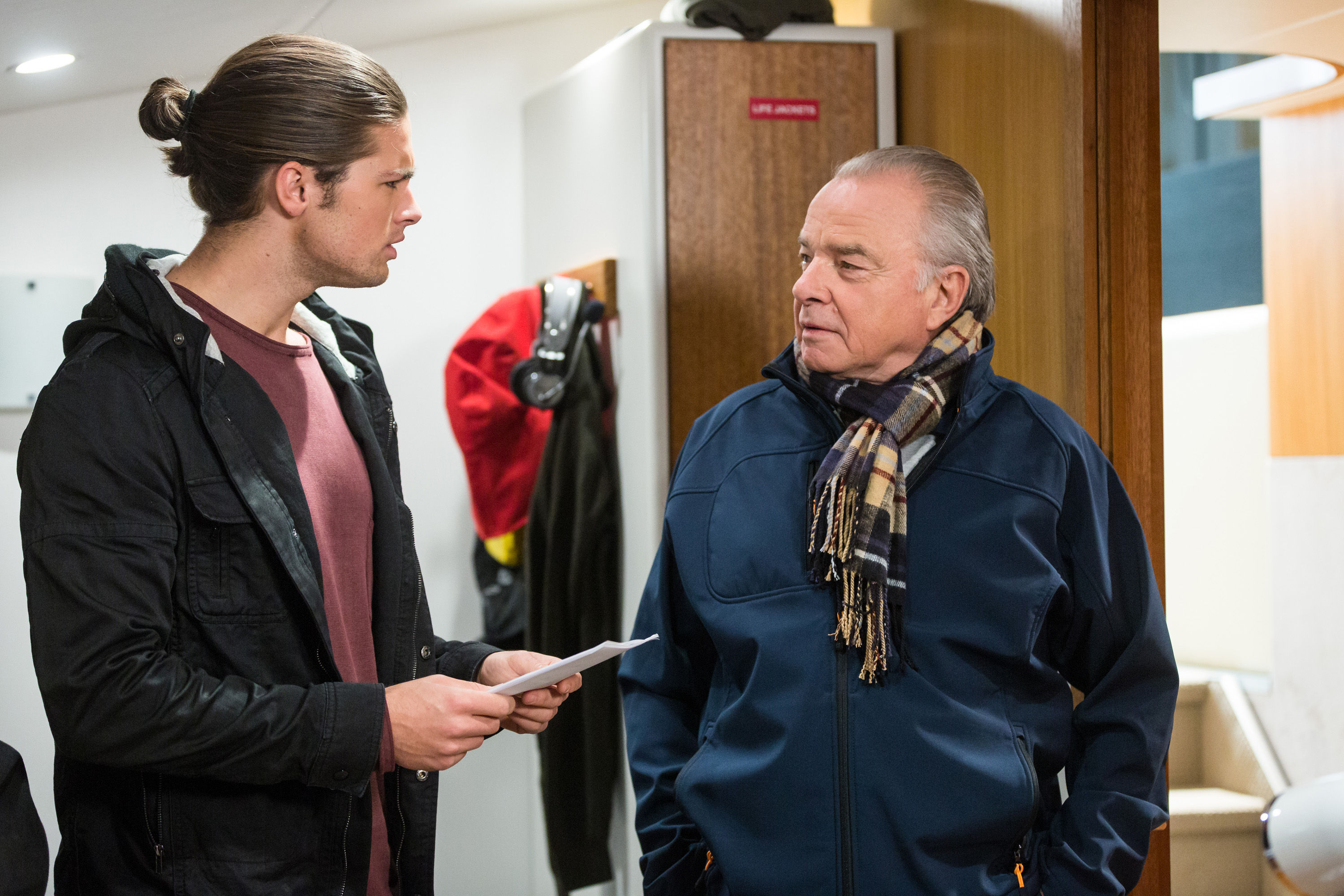 Neighbours Week 44 Ep 7722 - Tyler confronts Hamish over text messages he claims Piper sent to T-Bone. Embargo October 23rd. jh