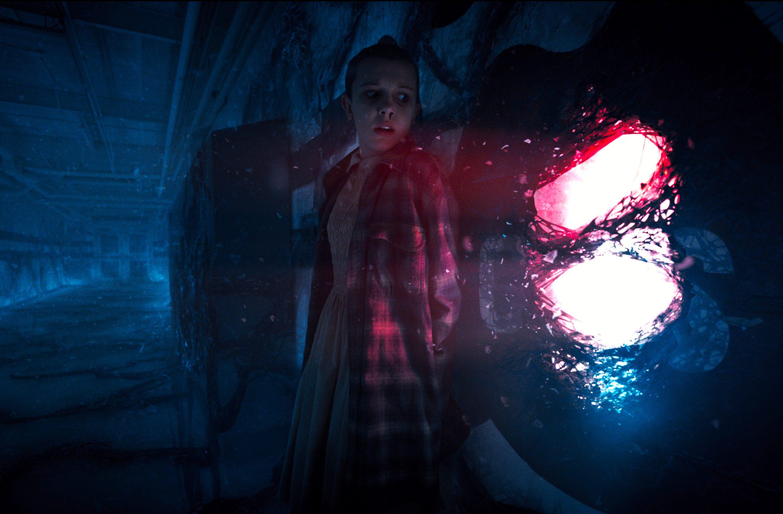 The Upside Down in Stranger Things (Netflix, JG)