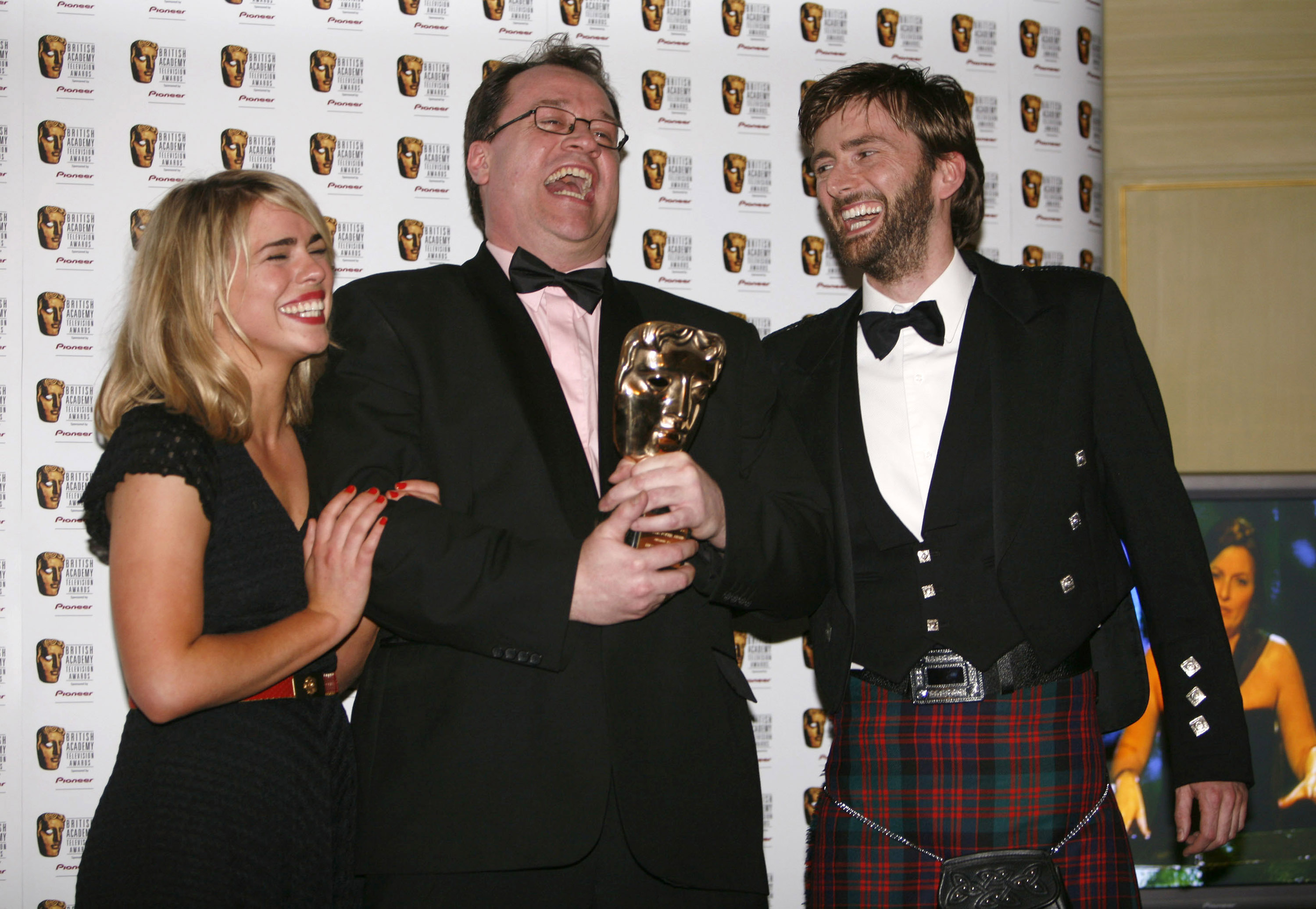 Billie Piper, Russell T Davies and David Tennant