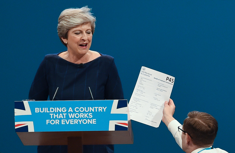 Theresa May prankster