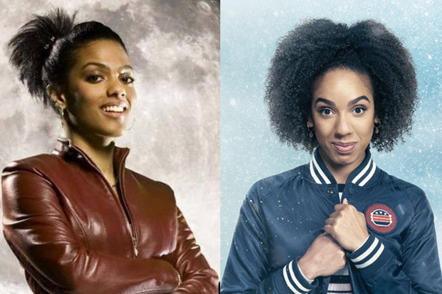 Freema Agyeman as Martha Jones and Pearl Mackie as Bill Potts in Doctor Who