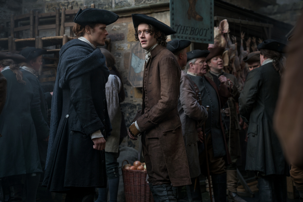 Jamie and Fergus Outlander season 3 Episode 6 (Starz)