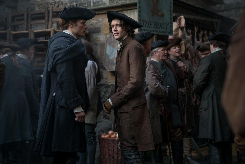 Jamie and Fergus Outlander season 3 Episode 6 (Starz)