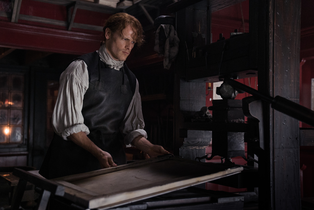 Jamie at work - Outlander season 3
