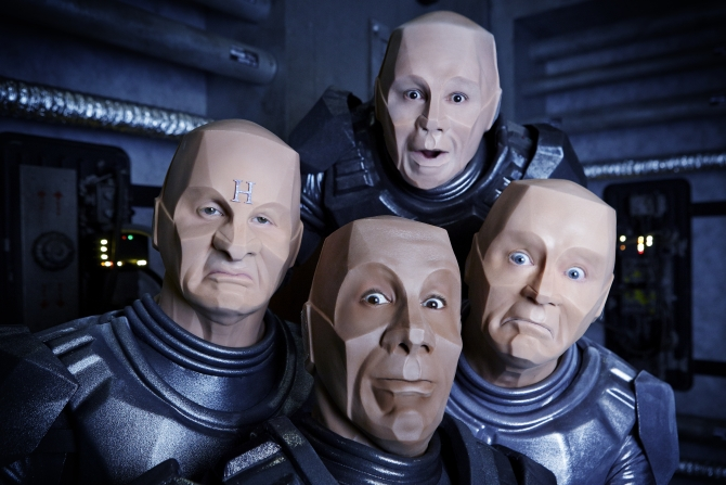 Red Dwarf XII crew as Krytens