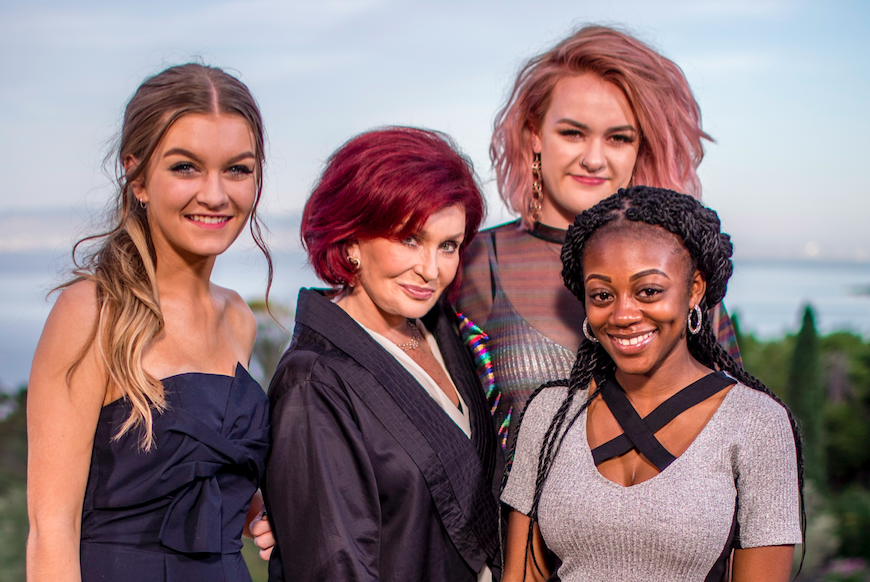 Sharon Osbourne and the Girls X Factor 2017