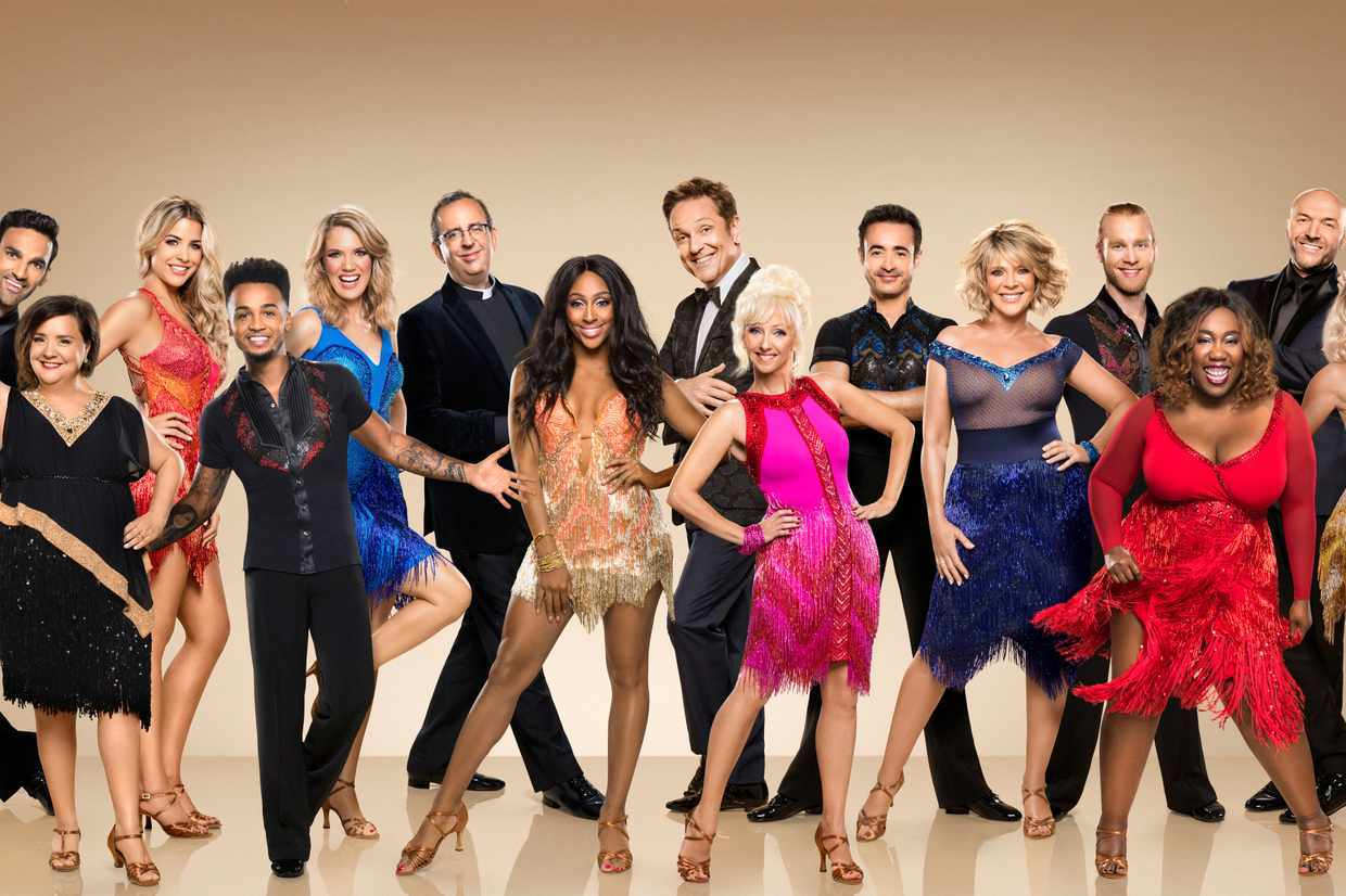 WARNING: Embargoed for publication until 00:00:01 on 05/09/2017 - Programme Name: Strictly Come Dancing 2017 - TX: n/a - Episode: n/a (No. n/a) - Picture Shows:  Mollie King, Simon Rimmer, Chizzy Akudolu, Jonnie Peacock, Ruth Langsford, Joe McFadden, Debbie McGee, Brian Conley, Alexandra Burke, Rev Richard Coles, Charlotte Hawkins, Aston Merrygold, Gemma Atkinson, Susan Calman, Davood Ghadami - (C) BBC - Photographer: Ray Burmiston
