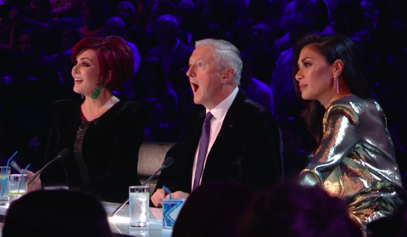 The X Factor live show 1 - judges Sharon Osbourne, Louis Walsh and Nicole Scherzinger