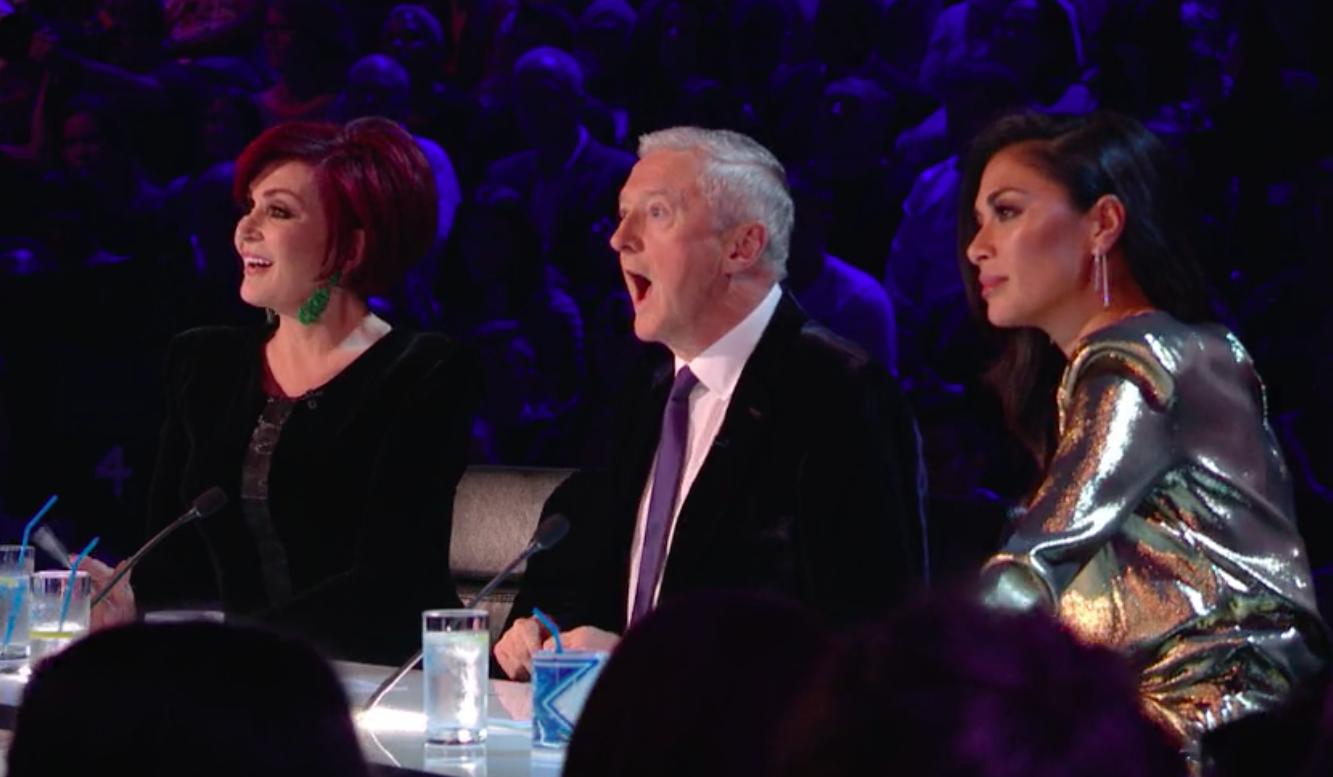 The X Factor live show 1 - judges Sharon Osbourne, Louis Walsh and Nicole Scherzinger