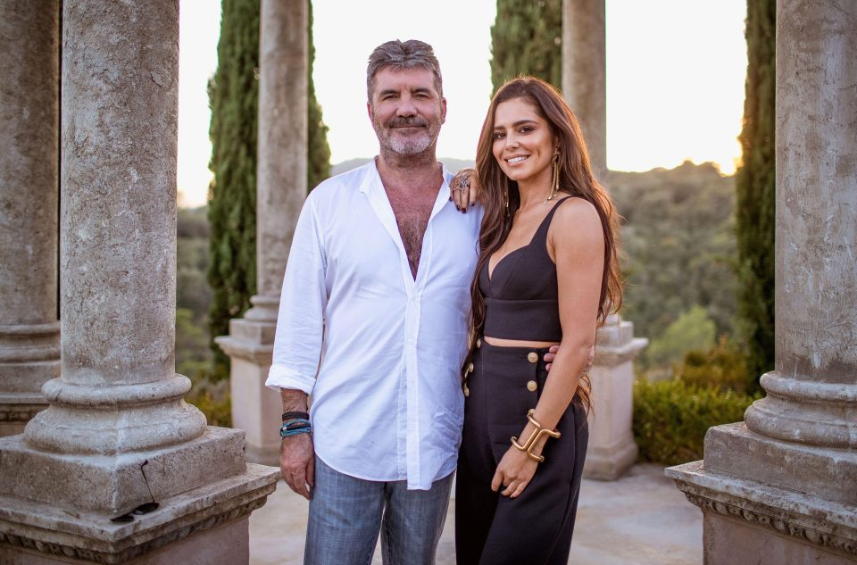 Simon Cowell and Cheryl at X Factor Judges Houses