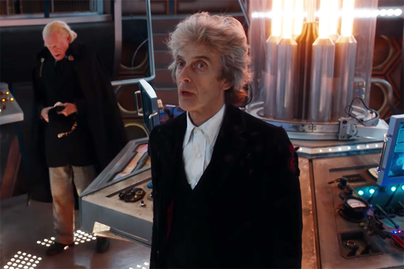 Peter Capaldi and David Bradley in Twice Upon a Time (BBC, HF)