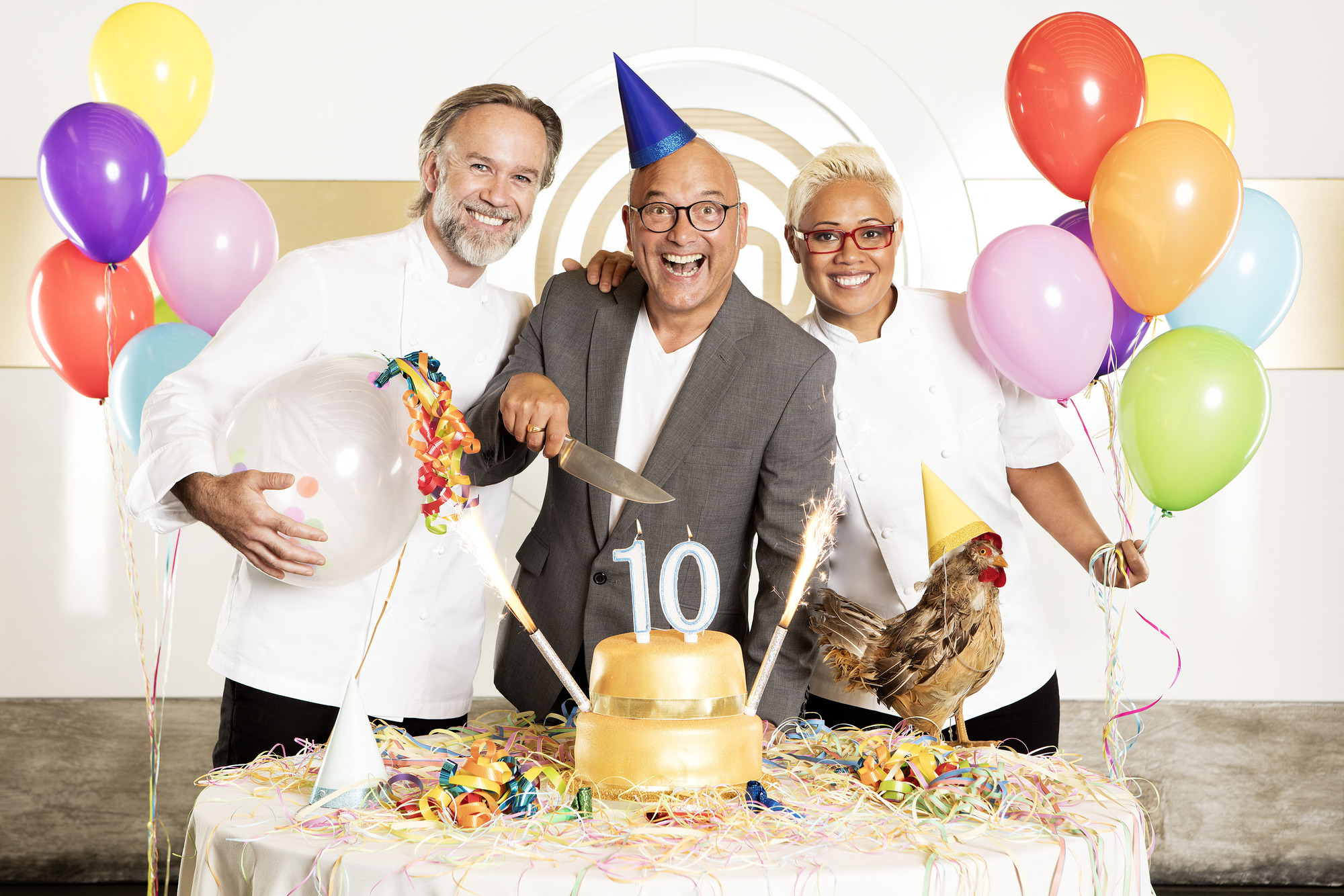 WARNING: Embargoed for publication until 00:00:01 on 31/10/2017 - Programme Name: Masterchef: The Professionals - TX: n/a - Episode: n/a (No. n/a) - Picture Shows: (L-R) Marcus Wareing, Gregg Wallace, Monica Galetti - (C) Shine TV Ltd - Photographer: Production  (BBC, TL)