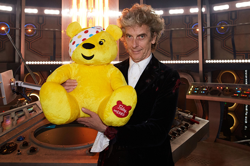 Peter Capaldi and Pudsey (BBC, HF)