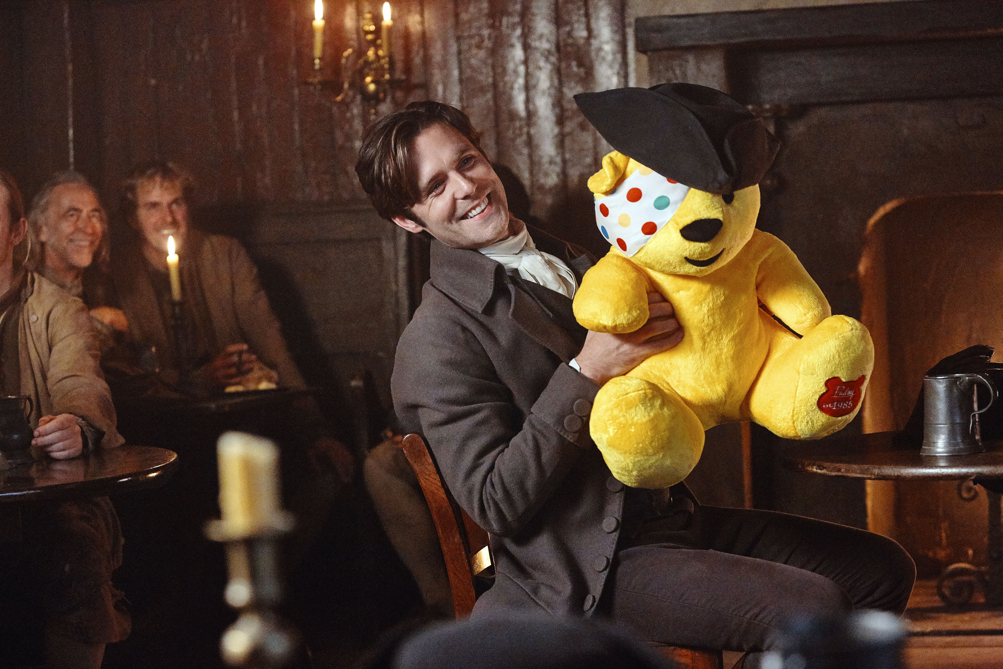 Dwight Enys (Luke Norris) in Poldark Children in Need special