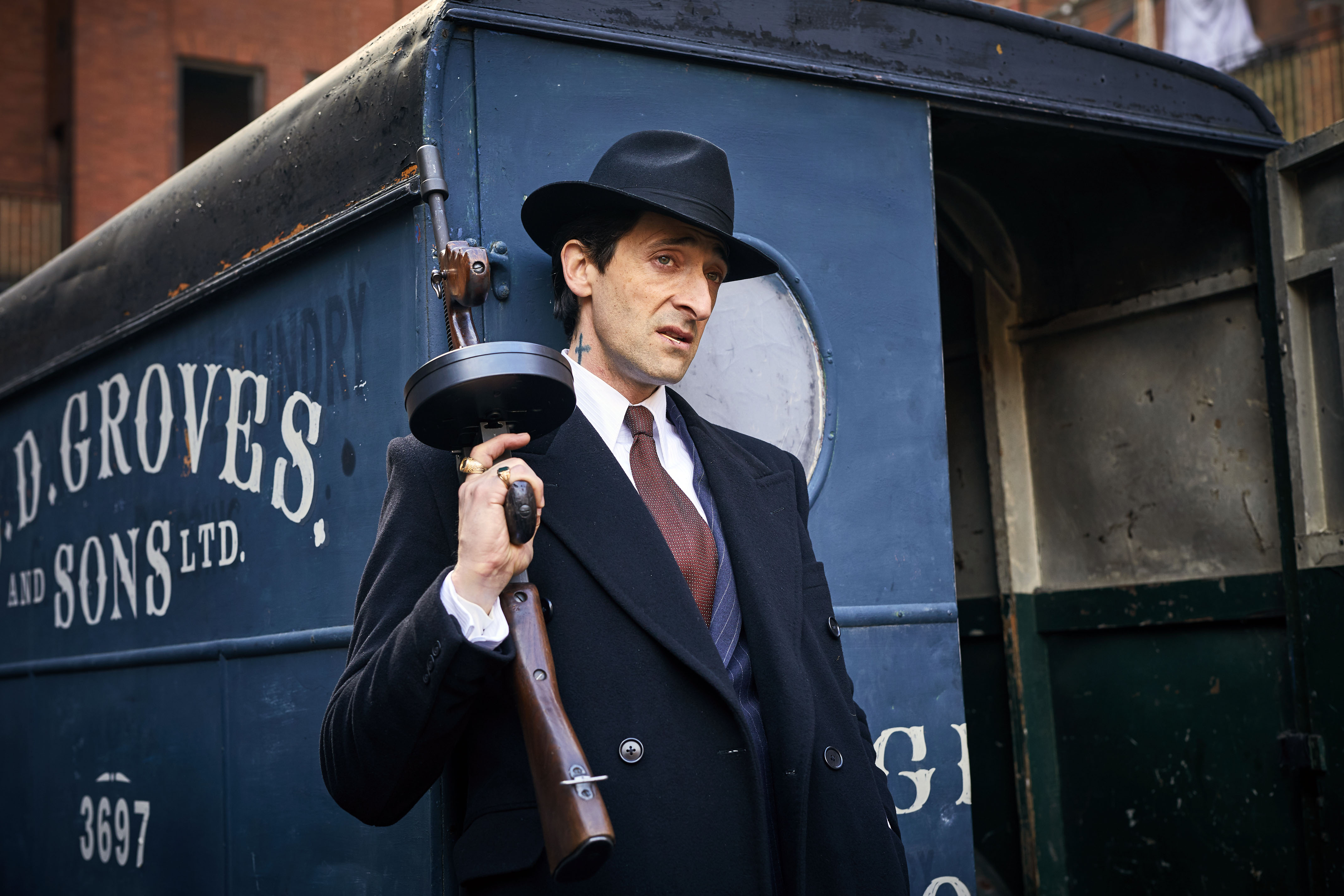 Programme Name: Peaky Blinders IV - TX: n/a - Episode: n/a (No. n/a) - Picture Shows:  Luca Changretta (Adrien Brody) - (C) © Caryn Mandabach Productions Ltd 2017 - Photographer: Robert Viglasky