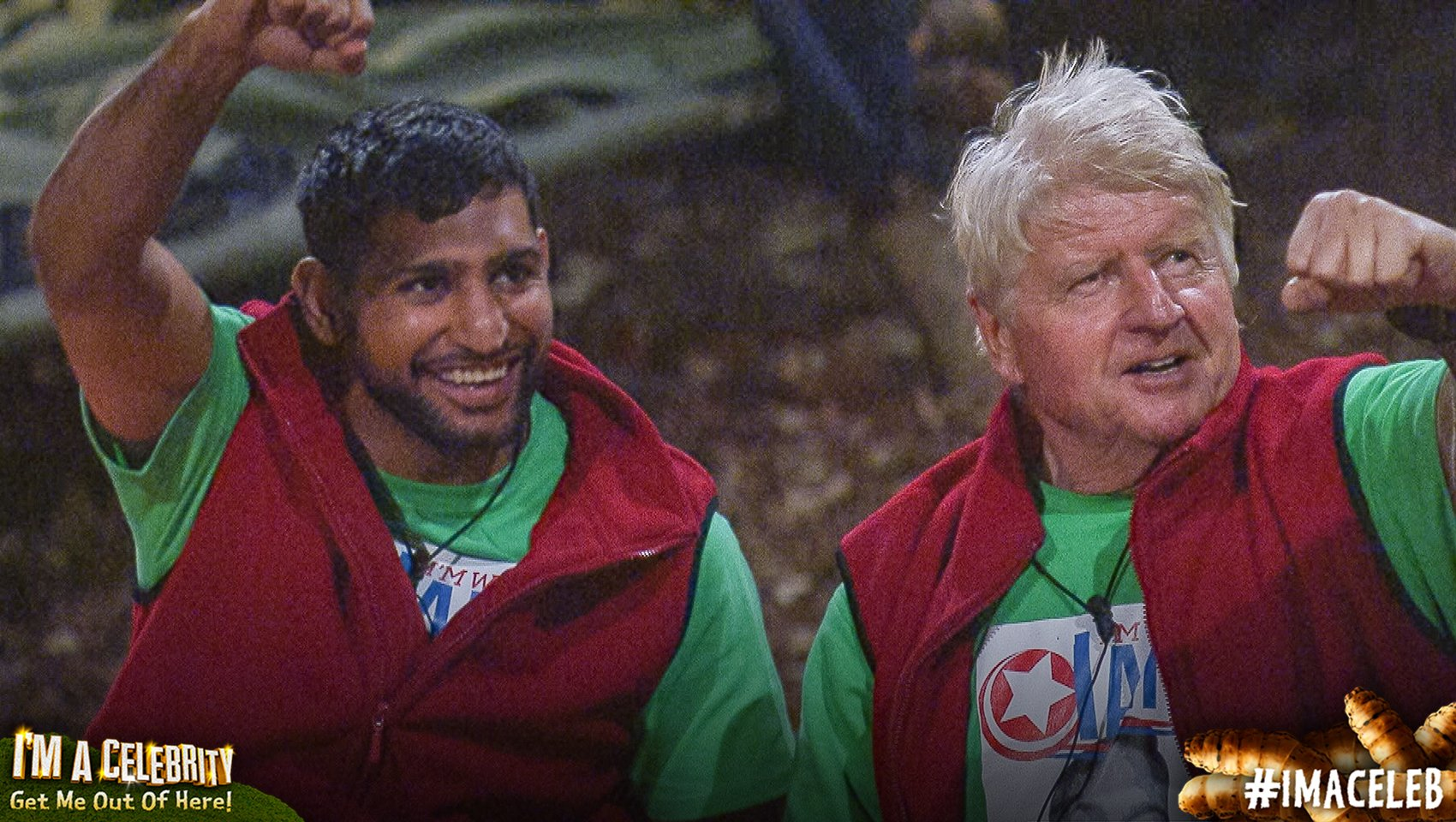 Stanley Johnson and Amir Khan on I'm a Celebrity 2017