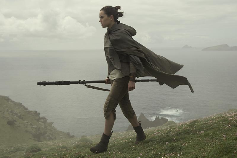 Rey (Daisy Ridley) finds Luke Skywalker on Ahch-To (LucasFilm, HF)
