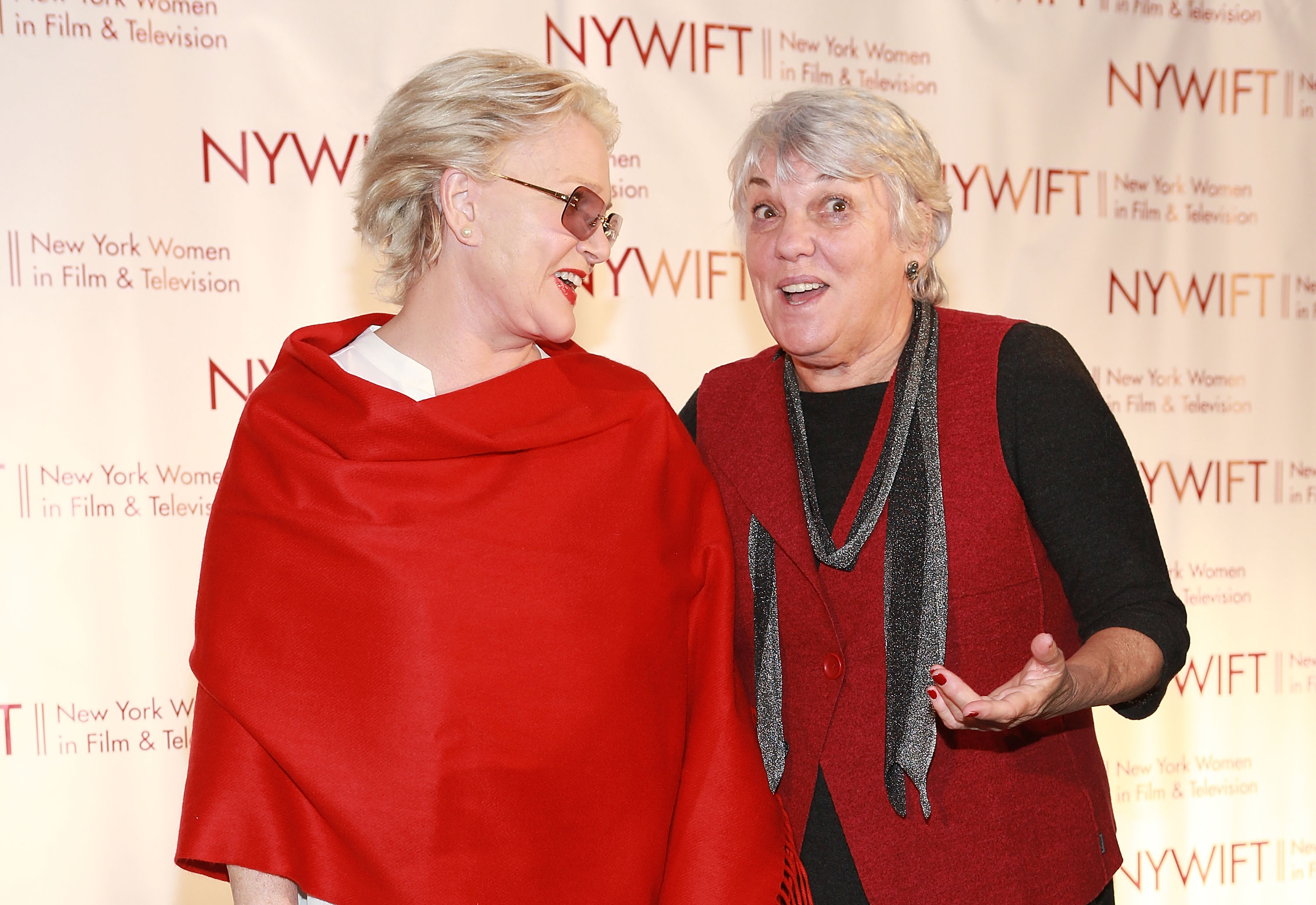 Sharon Gless with Cagney & Lacey co-star Tyne Daly