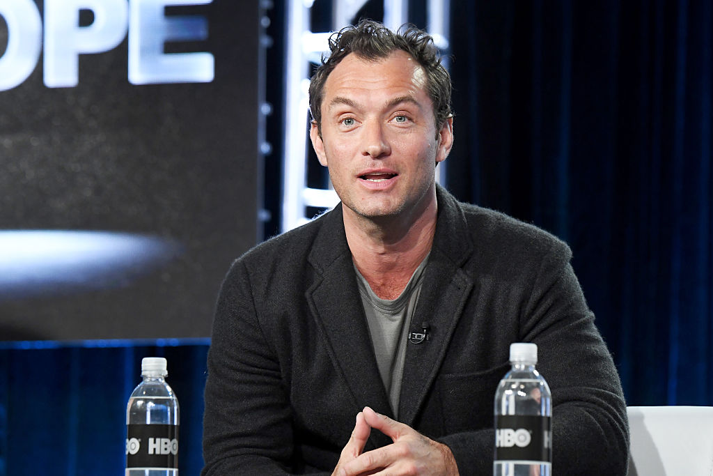 PASADENA, CA - JANUARY 14: Actor Jude Law of the limited series 'The Young Pope' speaks onstage during the HBO portion of the 2017 Winter Television Critics Association Press Tour at Langham Hotel on January 14, 2017 in Pasadena, California. (Photo by Jeff Kravitz/FilmMagic, BA)