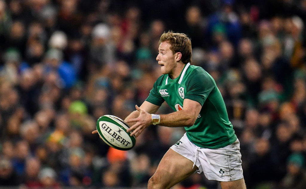 Dublin , Ireland - 18 November 2017; Kieran Marmion of Ireland during the Guinness Series International match between Ireland and Fiji at the Aviva Stadium in Dublin. (Photo By Sam Barnes/Sportsfile via Getty Images, BA)