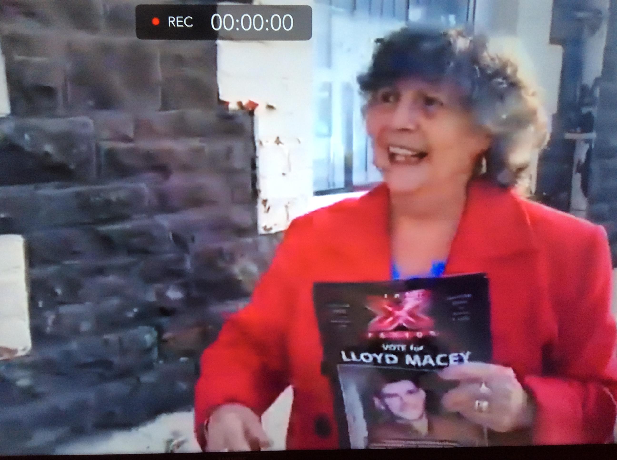 Lloyd Macey's nan on week 2 of The X Factor