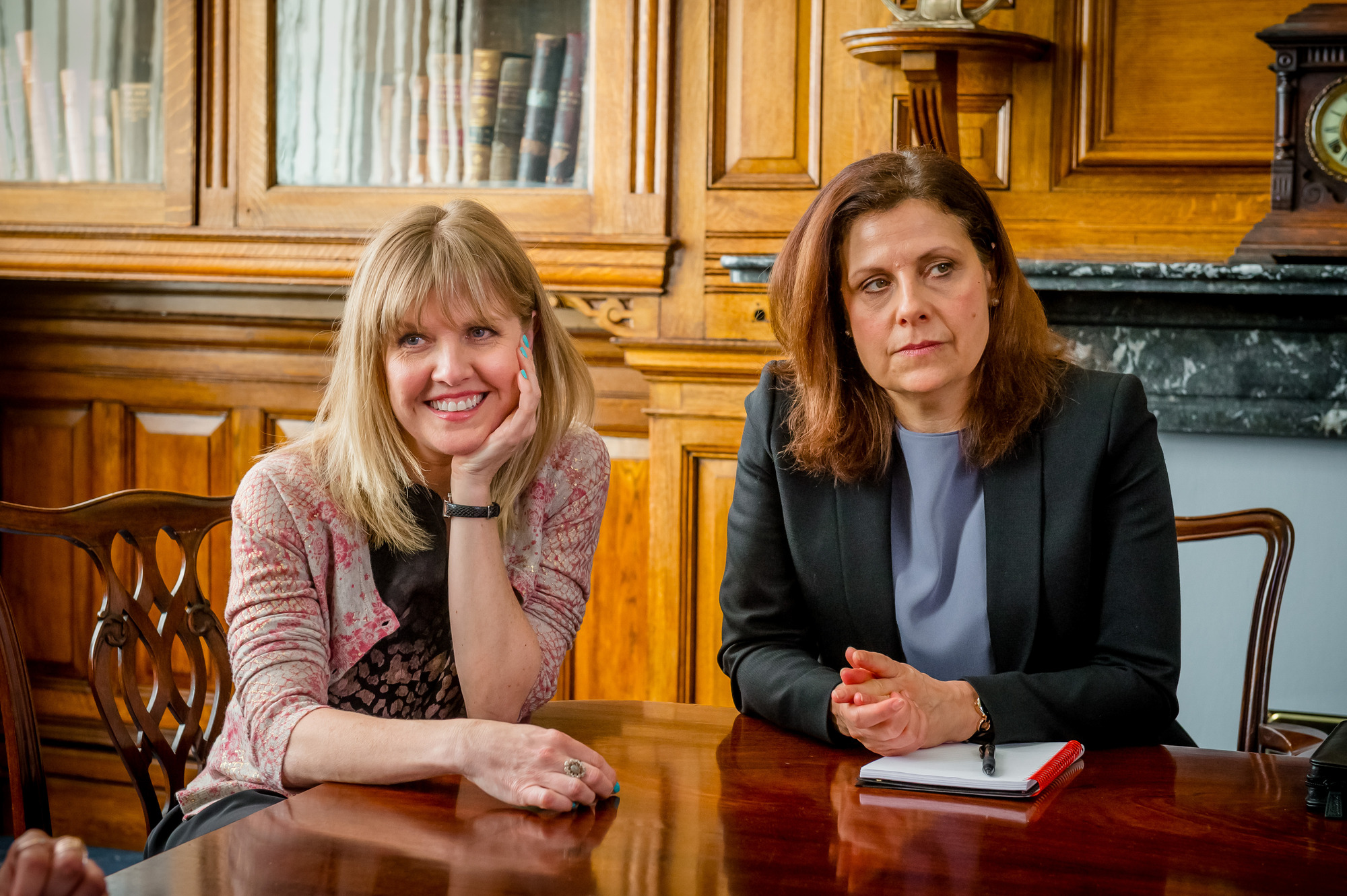 Programme Name: Love, Lies & Records - TX: n/a - Episode: n/a (No. 1) - Picture Shows: L-R Kate (ASHLEY JENSEN), Judy (REBECCA FRONT) - (C) Rollem Productions - Photographer: Ben Blackall