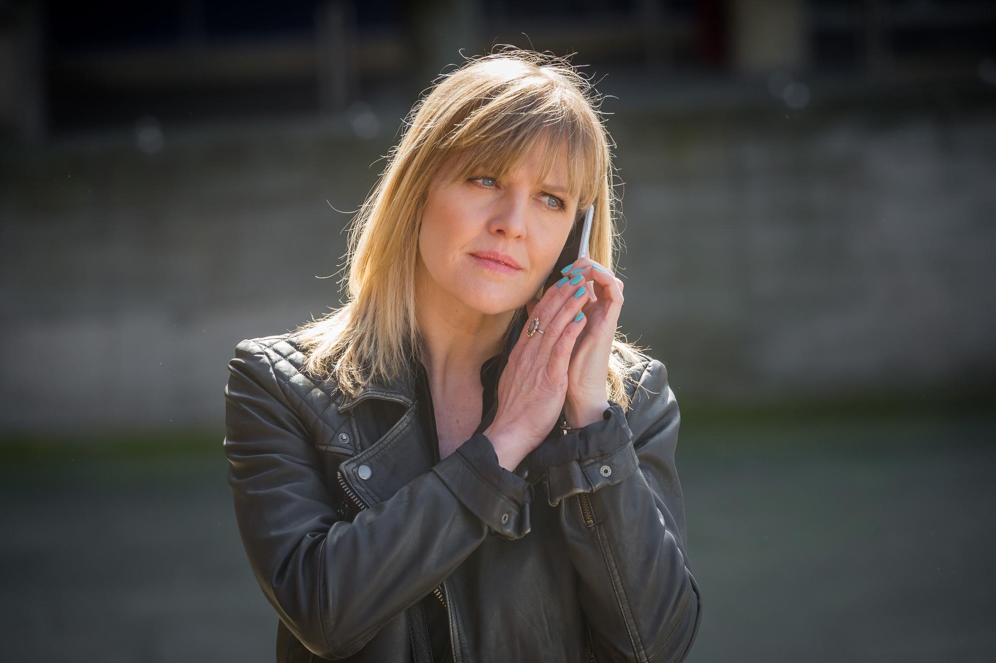 Programme Name: Love, Lies & Records - TX: n/a - Episode: n/a (No. 1) - Picture Shows: L-R Kate (ASHLEY JENSEN) - (C) Rollem Productions - Photographer: Ben Blackall