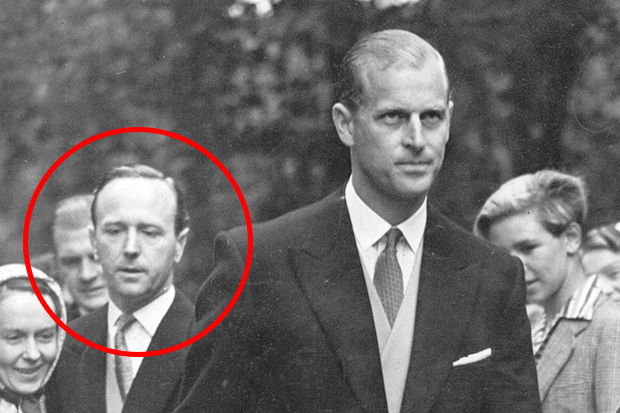 Prince Philip and Commander Michael Parker in 1952