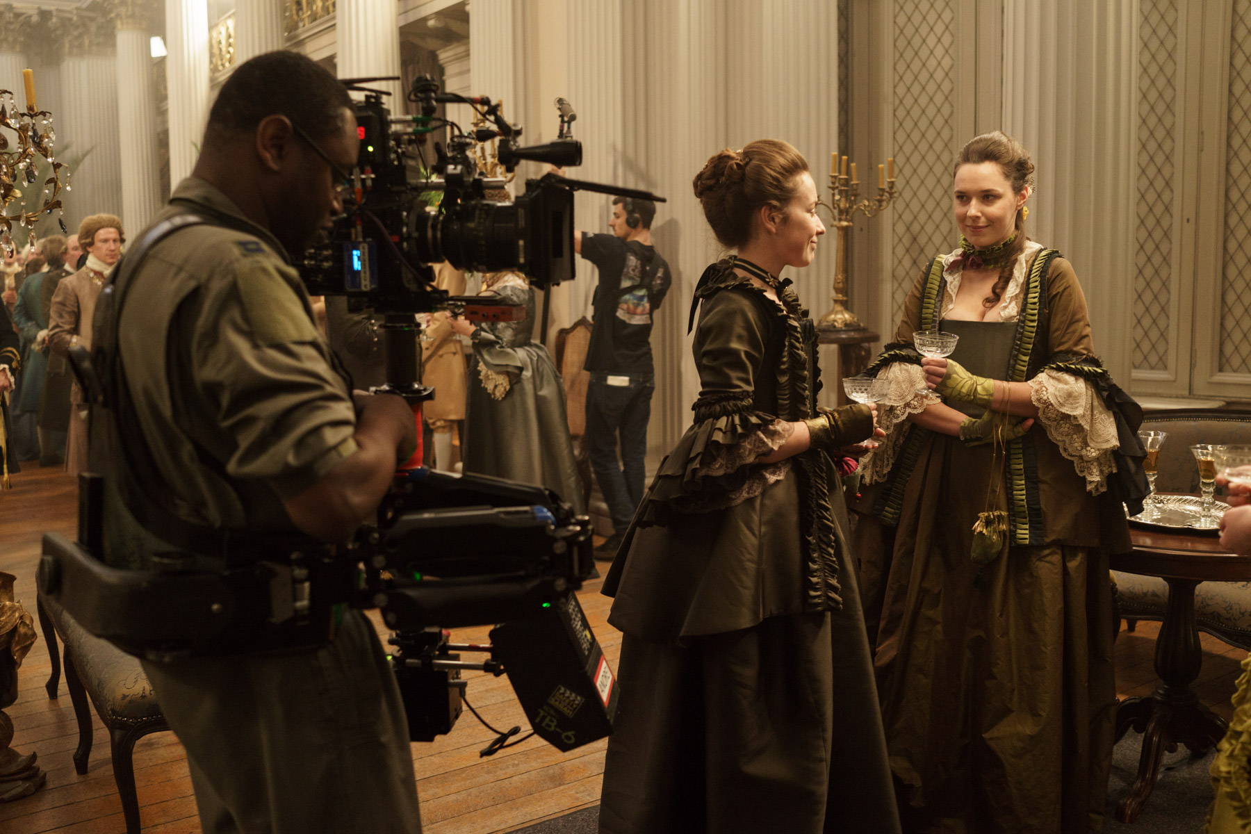 Outlander Season 3 - Filming at the Governor's Ball