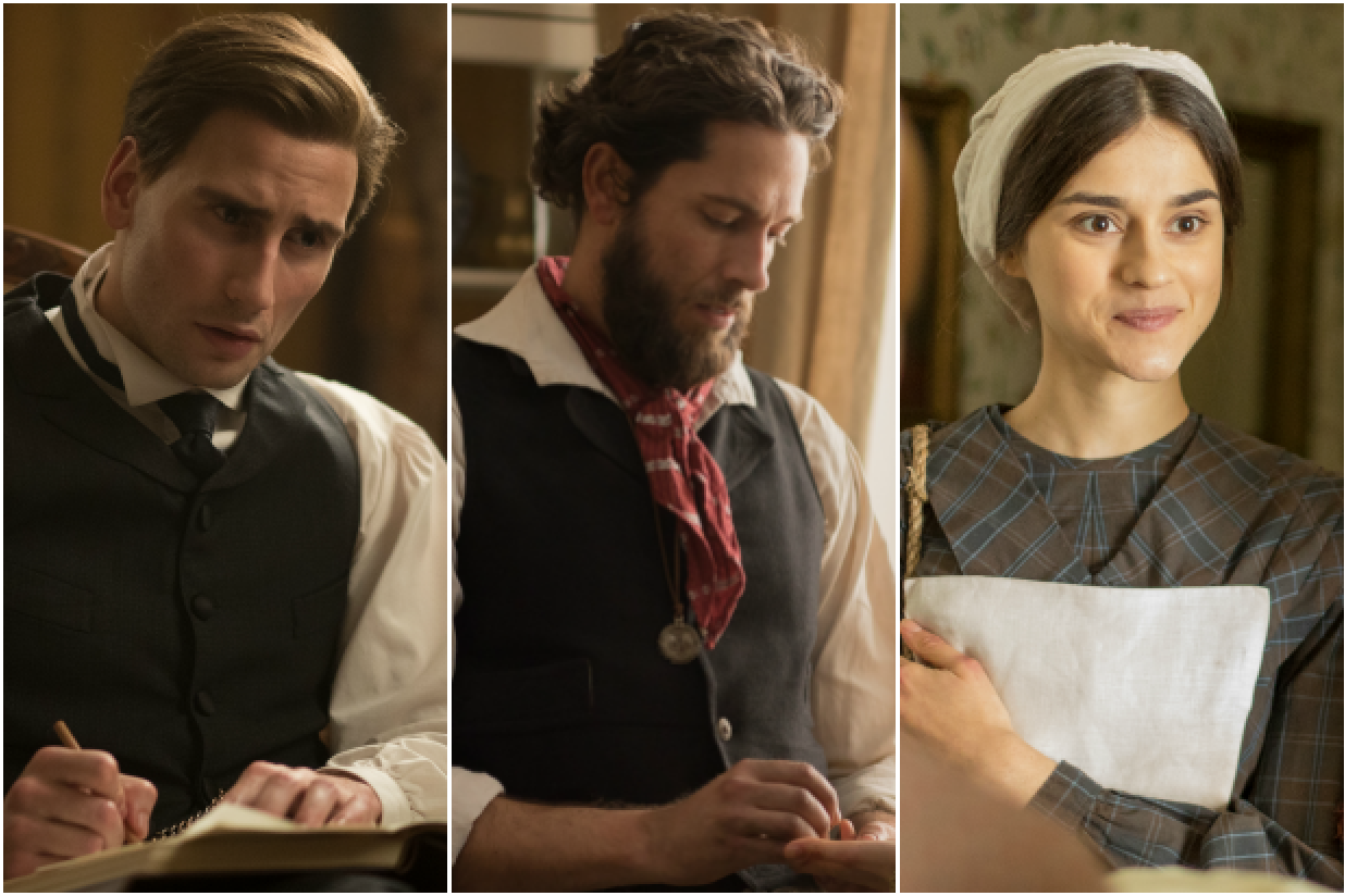Edward Holcroft, Zachary Levi and Rebecca Liddiard in Alias Grace (Netflix, EH)