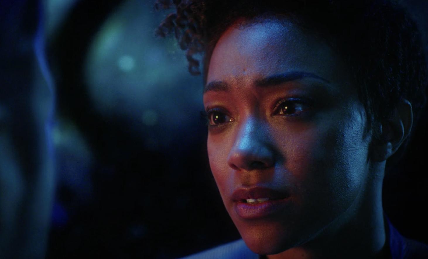 Sonequa Martin-Green as Michael Burnham in Star Trek: Discovery (Netflix, TL)