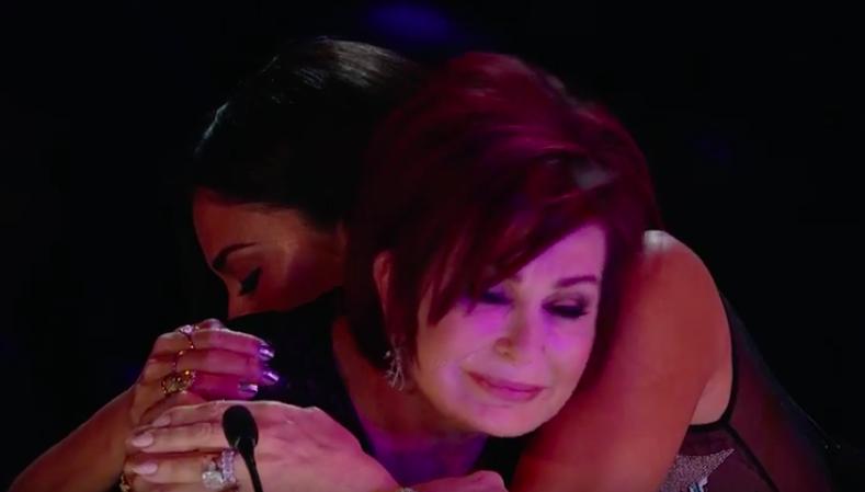 Nicole hugs Sharon Osbourne X Factor George Michael Week