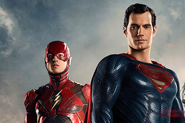 Ezra Miller and Henry Cavill as The Flash and Superman (Warner Bros, HF)