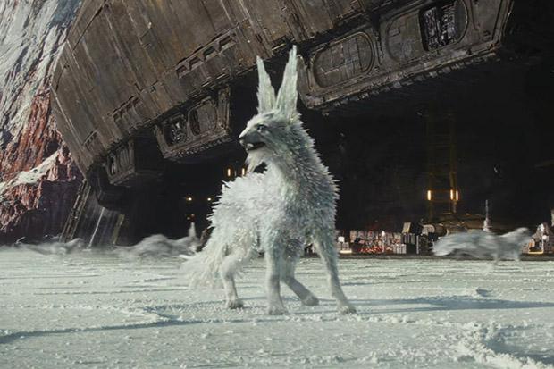 A Vulptex in Star Wars: The Last Jedi (Disney, HF)
