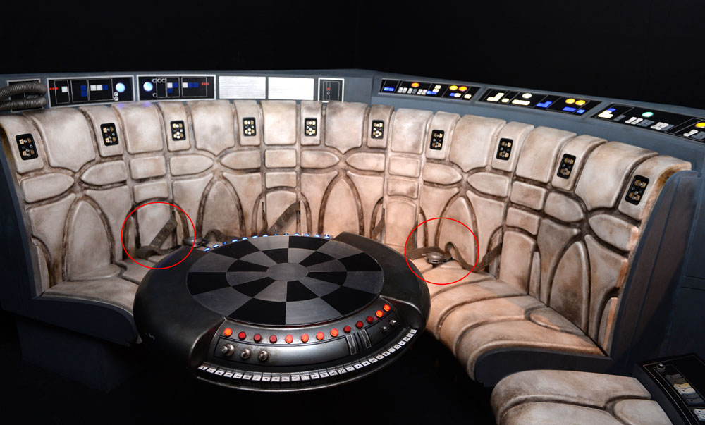 Interior of the Millenium Falcon on display at the Star Wars Gallery at Harrods, 2016 (Getty, TL)